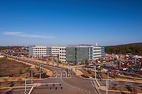 Architectural exterior of office building at Redstone Gateway in Huntville Alabama by Jeffrey Sauers of Commercial Photographics