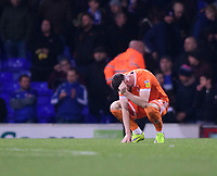 Blackpool's Ryan Edwards at the end of the game<br /> <br /> Photographer Chris Vaughan/CameraSport<br /> <br /> The EFL Sky Bet League One - Ipswich Town v Blackpool - Saturday 23rd November 2019 - Portman Road - Ipswich<br /> <br /> World Copyright © 2019 CameraSport. All rights reserved. 43 Linden Ave. Countesthorpe. Leicester. England. LE8 5PG - Tel: +44 (0) 116 277 4147 - admin@camerasport.com - www.camerasport.com