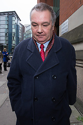 © Licensed to London News Pictures . 15/11/2013 . Manchester , UK . ALAN LEDGER leaves Minshull Street Crown Court in Manchester today (15th November 2013) .  Ledger is charged alongside Ray Teret , Jimmy Savile 's former chauffeur and flatmate and William Harper . Photo credit : Joel Goodman/LNP
