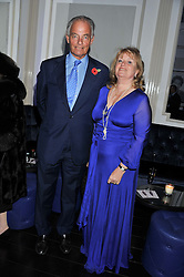The 4th MARQUESS & MARCHIONESS OF READING at a reception hosted by Beulah London and the United Nations to launch Beulah London's AW'11 Collection 'Clothed in Love' and the Beulah Blue Heart Campaign held at Dorsia, 3 Cromwell Road, London SW7 on 18th October 2011.