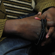 PORTLAND, Maine -- February 12, 2016 -- A Muslim man holds prayer beads in his hands during a mid day prayer at a mosque in downtown Portland on Friday in the middle of the day. Photo by Roger S. Duncan for The Forecaster.