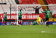 Charlton's Jake Forster-Caskey scores during the EFL Sky Bet League 1 match between Charlton Athletic and Rochdale at The Valley, London, England on 12 January 2021.