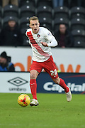 Chris Solly of Charlton Athletic during the Sky Bet Championship match between Hull City and Charlton Athletic at the KC Stadium, Kingston upon Hull, England on 16 January 2016. Photo by Ian Lyall.
