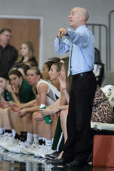 12 December 2015:  Chad Cusac during an NCAA women's basketball game between the Wisconsin Stevens Point Pointers and the Illinois Wesleyan Titans in Shirk Center, Bloomington IL