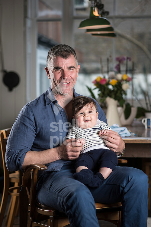 British financial services entrepreneur, gay rights campaigner, and media personality, Ivan Massow pictured with his son Theo, at his central London home. <br /> Picture by Daniel Hambury/Stella Pictures Ltd +44 7813 022858<br /> 29/02/2016
