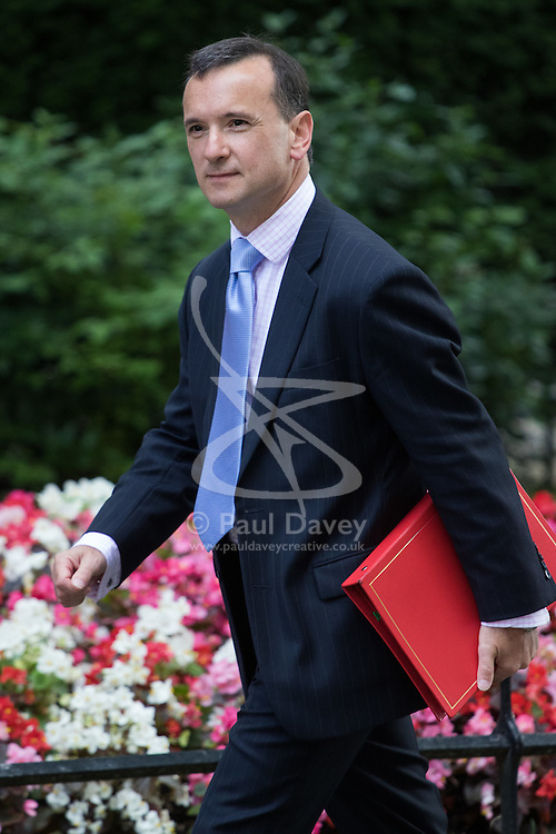 Welsh Secretary Alun Cairns arrives at Prime Minister David Cameron's final cabinet meeting following Theresa May's anticipated takeover as Leader of the Conservative Party and Prime Minister