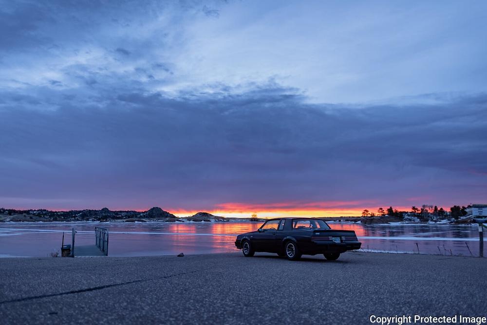 Shoreline Sunrise<br /> Geminid Meteor Shower and Comet Wirtanen<br /> 14-15 Dec 18<br /> Granite Springs Reservoir in Curt Gowdy State Park, Wyoming