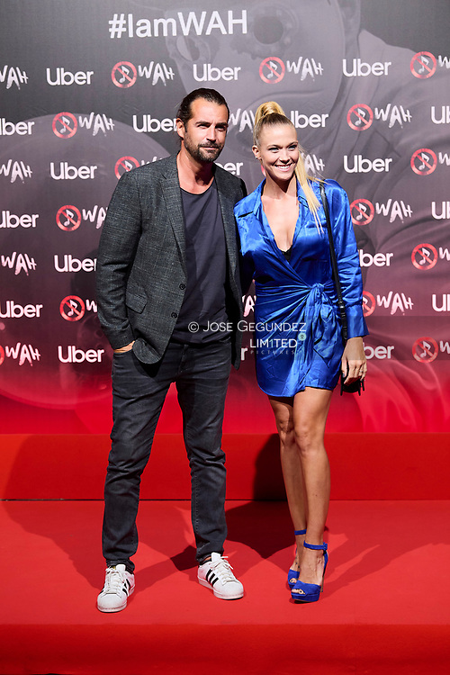 Patricia Montero, Alex Adrover attends 'Wah' Musical Show World Premiere Red Carpet at IFEMA on October 7, 2021 in Madrid, Spain