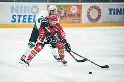 PESJAK Miha and JEZOVSEK Zan  during Alps League Ice Hockey match between HK SZ Olimpija and HDD SIJ Jesenice, on February 12, 2019 in Ice Arena Podmezakla, Jesenice, Slovenia. Photo by Peter Podobnik / Sportida
