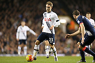 Christian Eriksen of Tottenham Hotspur  in action. Barclays Premier league match, Tottenham Hotspur v Newcastle Utd at White Hart Lane in London on Sunday 13th December 2015.<br /> pic by John Patrick Fletcher, Andrew Orchard sports photography.