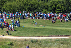 May 18, 2018 - Dallas, TX, U.S. - DALLAS, TX - MAY 18: A view from the 360 degree viewing tent towards the 12th green during the second round of the 50th AT&T Byron Nelson on May 18, 2018 at the Trinity Forest Golf Club in Dallas, Texas. (Photo by Matthew Pearce/Icon Sportswire) (Credit Image: © Matthew Pearce/Icon SMI via ZUMA Press)