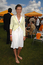 LOUISA WENTWORTH-STANLEY at the final of the Veuve Clicquot Gold Cup 2007 at Cowdray Park, West Sussex on 22nd July 2007.<br /> <br /> NON EXCLUSIVE - WORLD RIGHTS