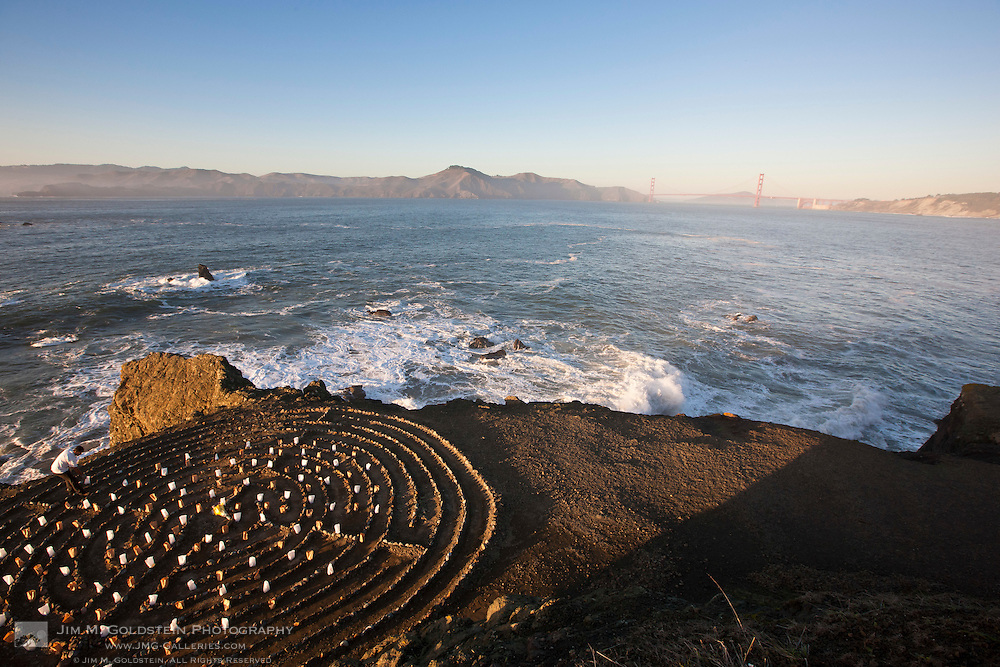 View of the Golden Gate Bridge from the Lands End Labyrinth - San Francisco, California