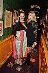 Left to right, MARISSA HERMER and JULIE MONTAGU at the launch of GP Nutrition held at Annabel's, 44 Berkeley Square, London on 26th January 2016.