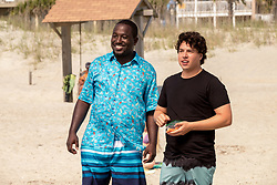 RELEASE DATE: May 26, 2017 TITLE: Baywatch STUDIO: Paramount Pictures DIRECTOR: Seth Gordon PLOT: Two unlikely prospective lifeguards vie for jobs alongside the buff bodies who patrol a beach in California STARRING: Hannibal Buress as Dave and Jon Bass as Ronnie. (Credit: © Paramount Pictures/Entertainment Pictures/ZUMAPRESS.com)