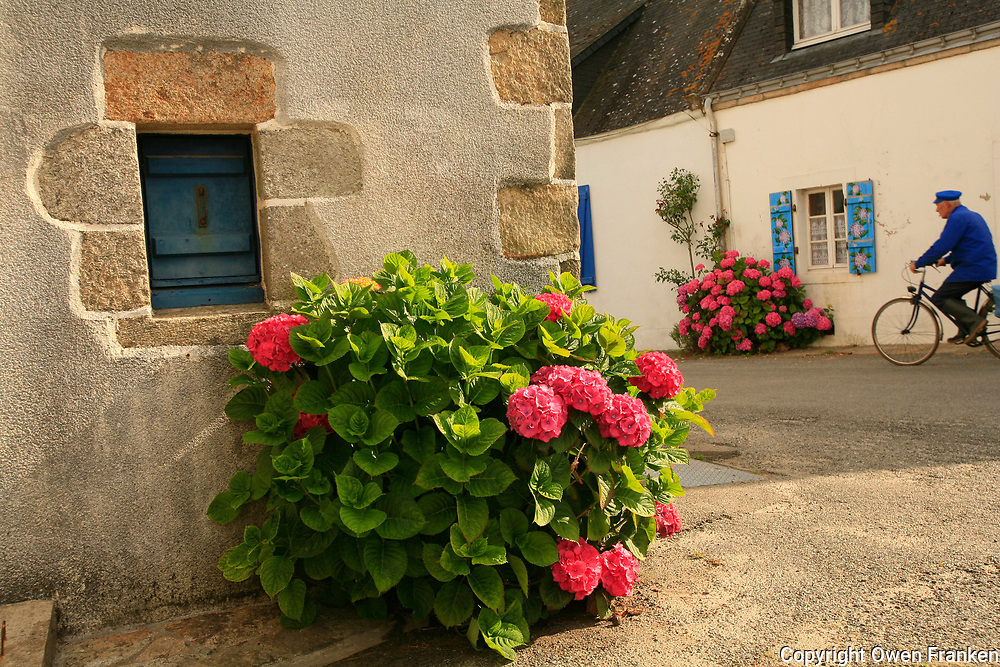 houses in the village of Kerniscob, on the Quiberon Peninsula, Brittany<br /> <br /> <br /> photograph by Owen Franken for the NY Times<br /> <br /> July 8, 2008