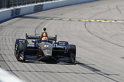 July 8, 2018 - Newton, Iowa, United States of America - JAMES HINCHCLIFFE (5) of Canada battles for position during the Iowa Corn 300 at Iowa Speedway in Newton, Iowa. (Credit Image: © Justin R. Noe Asp Inc/ASP via ZUMA Wire)