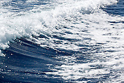 A wake of a boat close up