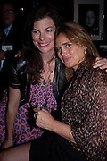 CAITLIN MAVROLEON;; JANINE DI GIOVANNI;, Book party for Janine di Giovanni's Ghosts by Daylight. Blake's Hotel. South Kensington. London. 12 July 2011. <br /> <br />  , -DO NOT ARCHIVE-© Copyright Photograph by Dafydd Jones. 248 Clapham Rd. London SW9 0PZ. Tel 0207 820 0771. www.dafjones.com.