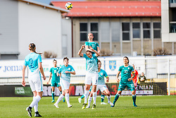 Alexandra Popp of Germany  and Katarina Gadnik of Slovenia during football match between Slovenia and Germany in Womans Qualifications for World Championship 2019, on April 10, 2018 in Sports park Domzale, Domzale, Slovenia. Photo by Ziga Zupan / Sportida