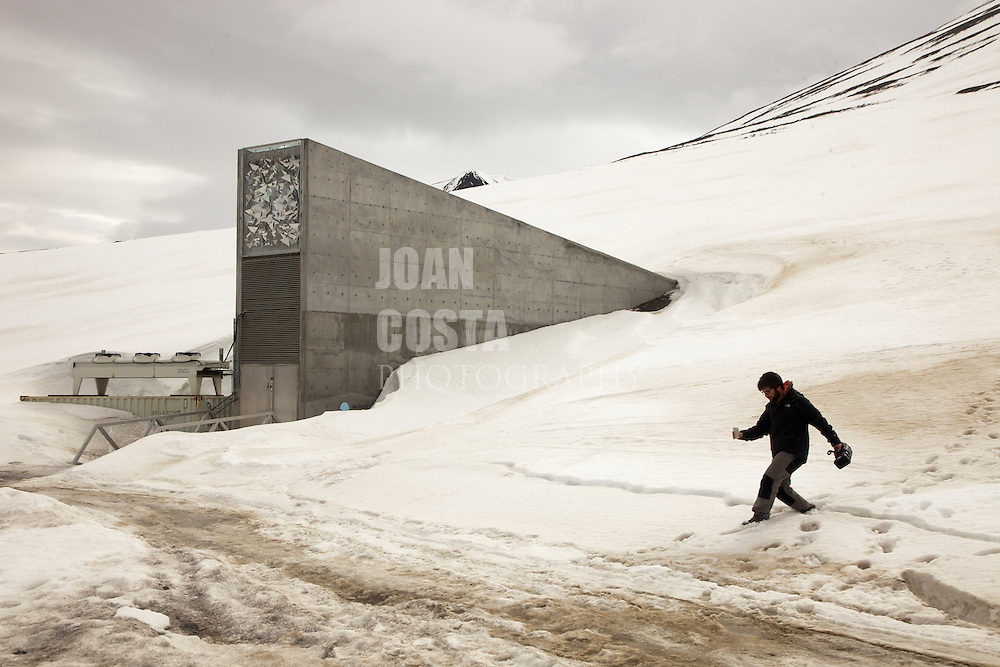 Áritco. Islas Svalbards.Cámara global de semillas de Svalbard en Longyearbyen..© JOAN COSTA