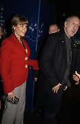 PETE TOWNSHEND AND RACHEL FULLER. First night party for High Society. Shanghai Blues. High Holborn.  October 10 2005. ONE TIME USE ONLY - DO NOT ARCHIVE © Copyright Photograph by Dafydd Jones 66 Stockwell Park Rd. London SW9 0DA Tel 020 7733 0108 www.dafjones.com