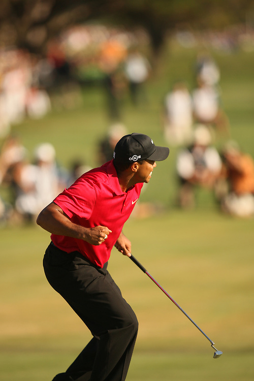 Tiger Woods during the fourth round of the 2008 United States Open Championship at Torrey Pines Golf Course in La Jolla, California on Sunday, June 15, 2008. .