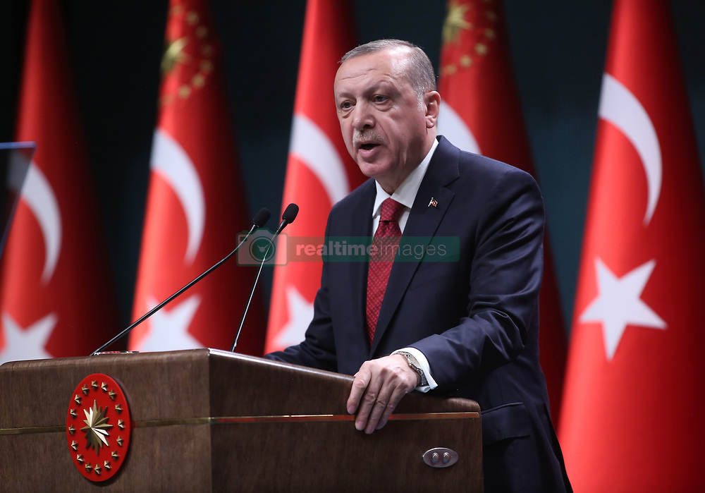 April 18, 2018 - Ankara, Turkey - RECEP TAYYIP ERDOGAN has announced Turkish presidential and parliamentary elections on 24 June, citing an ''urgent'' need to switch to an executive presidential system to cure the ''diseases'' of old. (Credit Image: © Depo Photos via ZUMA Wire)