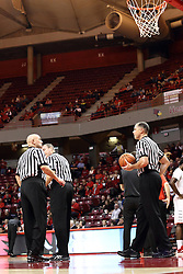 13 December 2015:  Rick Randall, Brad Ferrie and Jeff Malham. Illinois State Redbirds host the Murray State Racers at Redbird Arena in Normal Illinois (Photo by Alan Look)