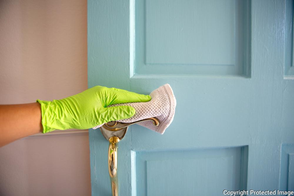 Caretaker Sanitizing Door Handle
