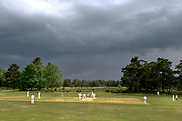 Village cricket in Blackheath, Surrey,UK.Photographed by Terry Fincher