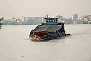 Large boat on Mekong River, Vietnam