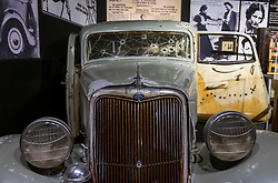 May 24, 2017 - Roscoe, Illinois, U.S. -   The George Barris-built car from the 1967 film 'Bonnie & Clyde' is displayed at the Historic Auto Attractions Museum.  The museum's holdings include the world's largest collection of presidential and world leaders' automobiles, and 36,000 square feet worth of displays of cultural artifacts and historical oddities from the 20th Century.(Credit Image: © Brian Cahn via ZUMA Wire)