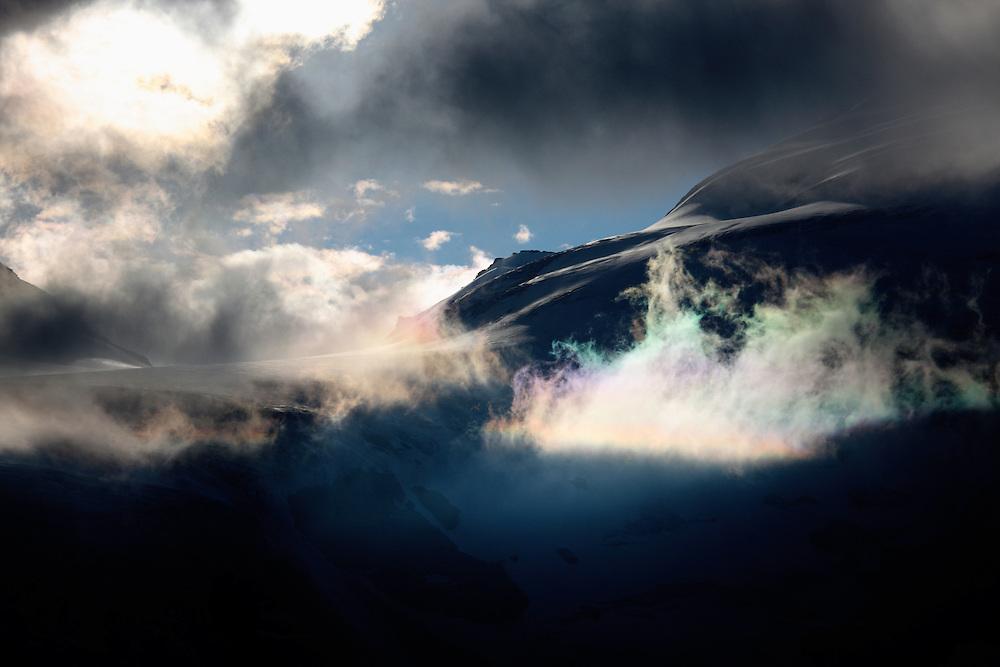 Grosglockner Mountain in clouds, Hohe Tauern National Park, Carinthia, Austria