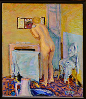 République d'Irlande, Dublin, National Gallery of Ireland, musée national de peinture, Pierre Bonnard, Nu devant un miroir, 1915 // Republic of Ireland; Dublin, National Gallery of Ireland, Pierre Bonnard, Nude before a Mirror, 1915