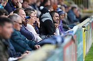 AFC Wimbledon fansduring the EFL Sky Bet League 1 match between AFC Wimbledon and Rochdale at the Cherry Red Records Stadium, Kingston, England on 5 October 2019.