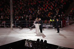 February 25, 2018 - Pyeongchang, KOREA - President of the International Olympic committee Thomas Bach onstage during the closing ceremony for the Pyeongchang 2018 Olympic Winter Games at Pyeongchang Olympic Stadium. (Credit Image: © David McIntyre via ZUMA Wire)