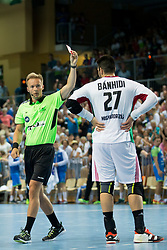 Bence Behidi of Hungary during handball game between Man National Teams of Slovenia and Hungary in 2019 Man's World Championship Qualification, on June 9, 2018 in Arena Bonifika, Ljubljana, Slovenia. Photo by Urban Urbanc / Sportida