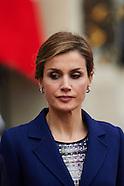 032415 Spanish Royals visit France - Day 1