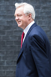 Downing Street, London, September 9th 2016.  Secretary of State for Exiting the European Union David Davis arrives at Downing street for the weekly cabinet meeting following the Parliamentary summer recess.