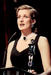 Princess Diana makes a speech at the 1997 New York Fashion Awards