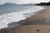 Killiney beach in Dublin Ireland empty during the winter season