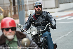 Nick Toscano on a Ride with Freewheelers And Company shop friends. Tokyo, Japan. December 8, 2015.  Photography ©2015 Michael Lichter.