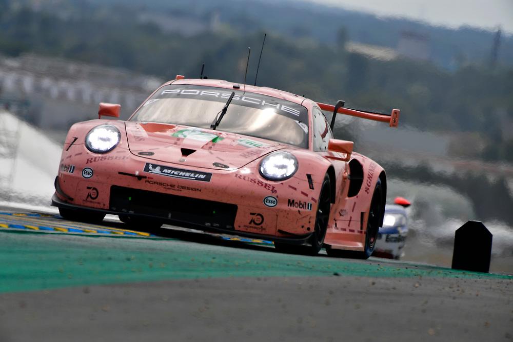 #92 Porsche GT Team Porsche 911 RSR: Michael Christensen, Kevin Estre, Laurens Vanthoor<br /> Saturday 16 June 2018<br /> 24 Hours of Le Mans<br /> 2018 24 Hours of Le Mans<br /> Circuit de la Sarthe  FR<br /> World Copyright: Scott R LePage