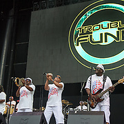 WASHINGTON, DC - July 4, 2015 - Trouble Funk performs  at the Foo Fighters 20th Anniversary Blowout at RFK Stadium in Washington, D.C. (Photo by Kyle Gustafson / For The Washington Post)