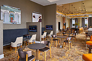 Residence Inn by Marriott Kansas City dining area. Designed by Collaborative Studios in Nashville, TN. Photographed by Nashville architectural and interior photographer Sanford Myers.