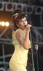 AMY WINEHOUSE. 06/07/2008; Amy Winehouse, Festival Rock in Rio Madrid. Credit: Album / Domingo J. Casas