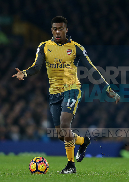 Alex Iwobi of Arsenal during the English Premier League match at Goodison Park Stadium, Liverpool. Picture date: December 13th, 2016. Pic Simon Bellis/Sportimage