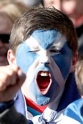 A Scotland fan wearing facepaint before the NatWest 6 Nations match at BT Murrayfield, Edinburgh.