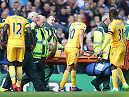 Crystal Palace's Scott Dann goes off injured during the Premier League match at the Stamford Bridge Stadium, London. Picture date: April 1st, 2017. Pic credit should read: David Klein/Sportimage via PA Images
